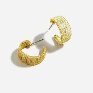 J. CREW // Wrapped hoop earrings